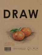 Premium Paper Drawing Book for Pencil, Ink, Marker, Charcoal and Watercolour Paints. Great for Art, Design and Education.