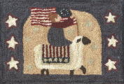 This Land Sheep Flag PN057 Punchneedle Punch Needle Embroidery Teresa Kogut Pattern