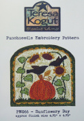 Sunflowery Day Autumn Fall PN066 Punchneedle Punch Needle Embroidery Teresa Kogut Pattern