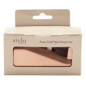 Stylo Cellotape Rose Gold Dispenser with Tape Rose Gold