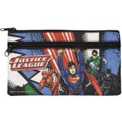 Justice League DC Comics Fabric Double Zip Pencil Case