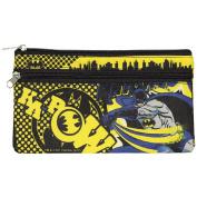 Batman DC Comics Fabric Double Zip Pencil Case