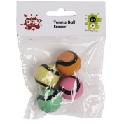 Play Studio Tennis Ball Eraser 4 Pack