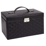 Quilted Black Jewellery Box
