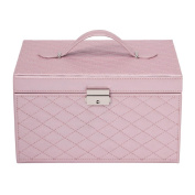 Jewellery Box Quilted Pink
