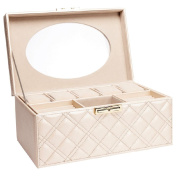Oval Clear Top Cream Jewellery Box