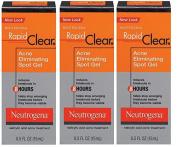 Neutrogena Rapid Clear Acne Eliminating Spot Gel, 15ml (Pack of 3) + Old Spice Deadlock Spiking Glue, Travel Size, .2480ml