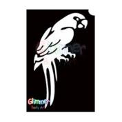 Glimmer Body Art Glitter Tattoo Stencils - Parrot