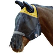 Derby Reflective Trim Horse Fly Mask with Ears & Fringes With One Year Warranty All Sizes