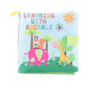 Gloryhonor Infant Baby Kid Intelligence Cloth Book Cognize Figure Animal Educational Toy