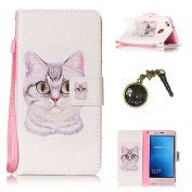 For P9 Lite High Quality PU Leather Magnetic Flip Cover Leather Case [Card Pockets] Executive Wallet Leather Case Cover + Dust Plug & # xFF09,