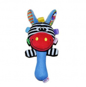 JinZhiCheng Cartoon Animal Plush Hand Rattles Baby Kids Giraffe Red Bells