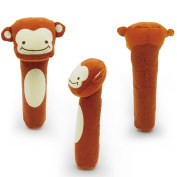 NXDWJ Cartoon Figure Colourful Soft Animal Handbells, Rattles for Infant, Gift for Young Baby, Hearing Stimulator
