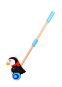 Penguin Wooden Push Along Toddler Toy for Beginning Walkers - Sameday Dispatch
