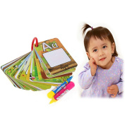 Itian 26 Alphabets Doodle Board Water Drawing Book With 2 Pens Home Preschool Early Educational Development Birthday Gift Toy for Child Kids