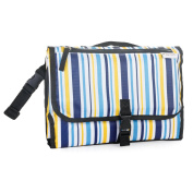Portable Cushioned Changing Mat Baby Nappy Changing Bag with Storage Pockets and Carry Handle