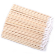 CHIC*MALL Semi - permanent Embroidery Wooden Handle Beauty Makeup Cotton Buds Swabs