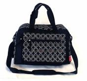 Laminated Black Egg Polka Dots Large Baby Nappy Nappy Changing Bags Bag 9072