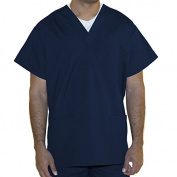 myGuardian with Vestex Protection 402_NV_S Unisex 3 Pocket Scrub Top, Small, Navy Blue