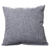 Hoomall Solid Colour Sofa Squares Cushion Case Throw Pillow Cover without Core 46cm x 46cm Dark Grey