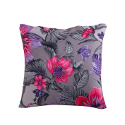 Hoomall Bohemia Sofa Squares Cushion Case Throw Pillow Cover without Core 46cm x 46cm Purple Lotus