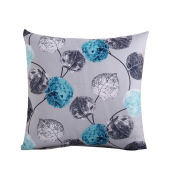 Hoomall Bohemia Sofa Squares Cushion Case Throw Pillow Cover without Core 46cm x 46cm Blue Leaves