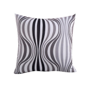 Hoomall Bohemia Sofa Squares Cushion Case Throw Pillow Cover without Core 46cm x 46cm Black White