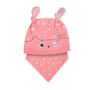 Baby Hat for 6-24 Months Kids , Xshuai 2PCS Fashion Newborn Infant Toddler Cute Hat+Bandana Bib Saliva Towel Head Scarf Set