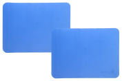 Safety 1st Silicone Placemats- Blue 2pk- Grips Tabletop, Protects Child from Germs, and Easy Clean