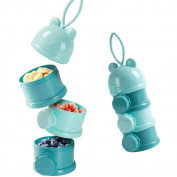 Baby Milk Power Formula Dispenser - 3 Separate Containers for Travel Camping Portable Stackable Snack Containers