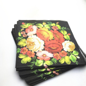 Laat Romantic Vintage Floral Pattern Vintage Paper Pack for Scrapbooking and Craft, style 3, 330x330mm