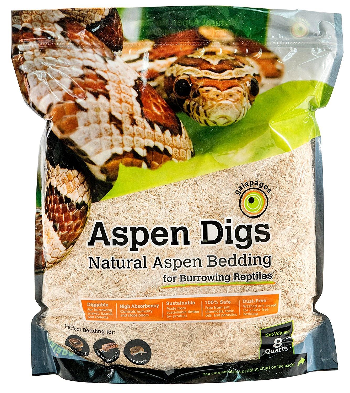 Galapagos (05064) Aspen Digs Shavings Bedding, 7 6l, Natural