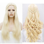 Morningsilkwig New Game of Thrones Season 7 Daenerys Targaryen Cosplay Wig For Women Halloween Play Wig Party Stage Hair High quality