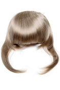 WIG ME UP ® - TYQ055-22 Hair Piece Clip in Bangs Fringe long framing strands for perfect natural fit HIGH QUALITY synthetic fibre light blond