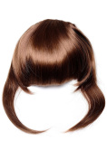 WIG ME UP ® - TYQ055-30 Hair Piece Clip in Bangs Fringe long framing strands for perfect natural fit HIGH QUALITY synthetic fibre light copper brown