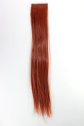 WIG ME UP ® - YZF-P2S18-130 1 x Two Clip Clip-In extension strand highlight straight micro clip, 8.9cm wide, 46cm long rust red