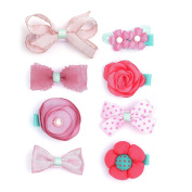 Belle Beau Gorgeous Baby Hair Barrettes, Baby Hair Clips, Toddler Girls Hair Accessories Value Set