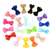 PrettyBoutique 20 Pcs Handmade 5.1cm Grosgrain Hair Bows with Fully Lined Clips