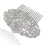 Desire Accessories Gatsby Inspired Austrian Crystal Bridal Haircomb Wedding Accessory