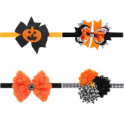 Dooppa 4PCS Baby Halloween Elastic Hair Band Hair Accessories