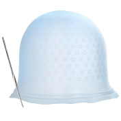 BBTO Hair Colouring Cap Silicone Highlighting Cap with Metal Hair Hook for Dyeing Hair