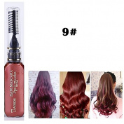 1x Professional Hair Chalk Vibrant Colours Tools Hair Temporary Hair Dye Hair Colour Mascara Wine Red