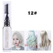 1x Professional Hair Chalk Vibrant Colours Tools Hair Temporary Hair Dye Hair Colour Mascara White