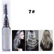 1x Professional Hair Chalk Vibrant Colours Tools Hair Temporary Hair Dye Hair Colour Mascara Grey