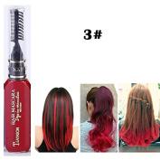 1x Professional Hair Chalk Vibrant Colours Tools Hair Temporary Hair Dye Hair Colour Mascara Red