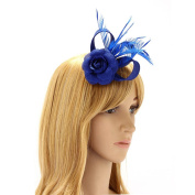 Women's Fashion Headband Hat Fascinator Weddings For Ladies Girls Flower Feather Fascinator With Hair Clip