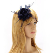 Women Stylish Floral Bridal Headbands Fascinators For Ladies With Hair Clip