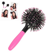 ROKOO Japan 3D Bomb Curl Hair Brush Ball Styling Spherical Massage Comb Detangling Heat Resistant Hair Comb