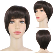 FLORATA Short Full Head Wig Straight Synthetic Hair wig-Cosplay,Party