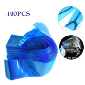 Bulary 100PCS Disposable Tattoo Machine Cover Bags Clip Cord Covers Sleeves Plastic